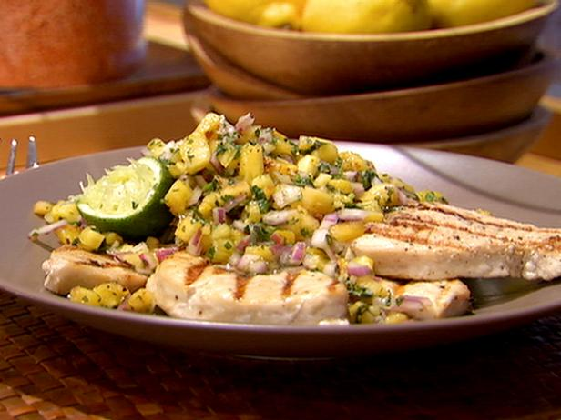 Mako Shark with Grilled Pineapple Salsa