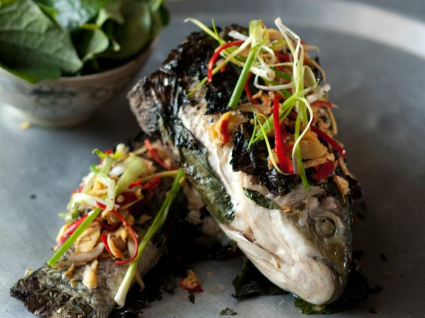 Carp Char Grilled In Betel Leaves: Ca Tram Nuong La Lop