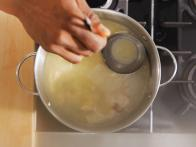 Remove Floating Impurities from Stock with Ladle