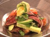 Flank Steak Salad with Jalapeno Poppers