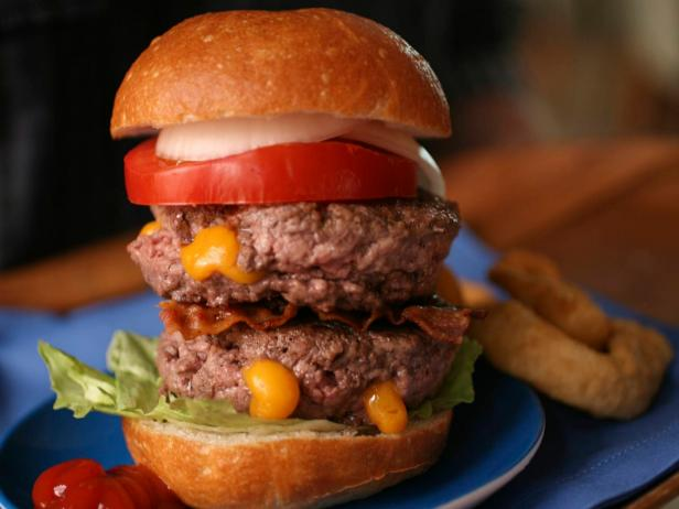 Double-Stacked Juicy Lucy Burgers