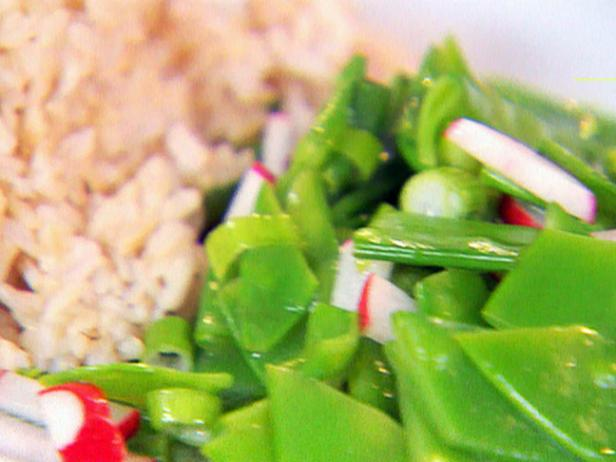 Snow Pea, Scallion and Radish Salad
