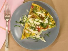 Cooking Channel serves up this Garden Vegetable Frittata recipe from Kelsey Nixon plus many other recipes at CookingChannelTV.com