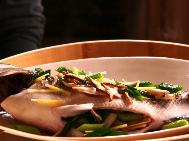 Steamed Fish with Scallion Soy Sauce