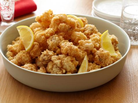 Popcorn Rock Shrimp with Spicy Honey