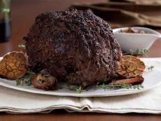 Cooking Channel serves up this Rib Roast with Mushroom Crust recipe from Chuck Hughes plus many other recipes at CookingChannelTV.com