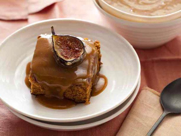 Sticky Fig Pudding with Candied Fresh Figs