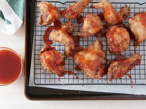 Twice-Fried Chicken with Sriracha Honey