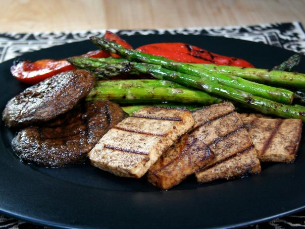 Grilled Vegetables with Tofu