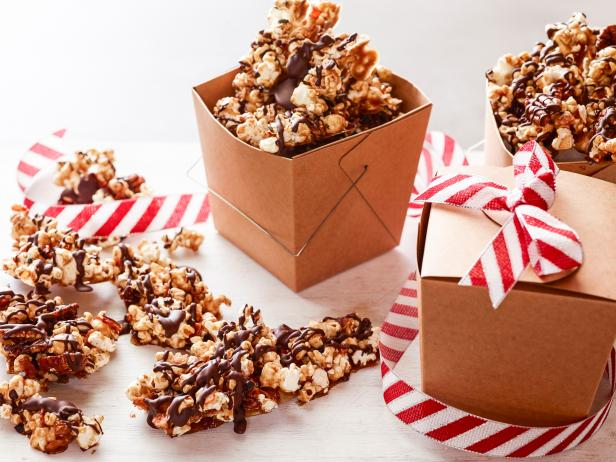 Chocolate Caramel Popcorn Bark with Bacon, Pecans and Chili