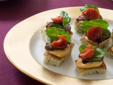 Cooking Channel serves up this Grilled Beef Tenderloin on Focaccia Toasts recipe from Tyler Florence plus many other recipes at CookingChannelTV.com