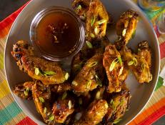 Cooking Channel serves up this Honey Hoisin Glazed Wings recipe from Kelsey Nixon plus many other recipes at CookingChannelTV.com