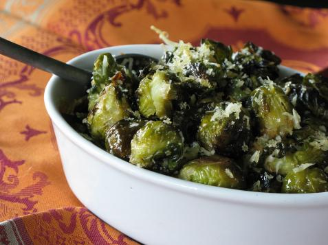 Parmesan Crumb Coated Brussels Sprouts