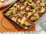 Quick Roasted Carrots and Cauliflower with Walnuts