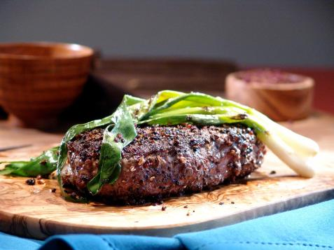 Sichuan Peppercorn Steak with Grilled Green Onions