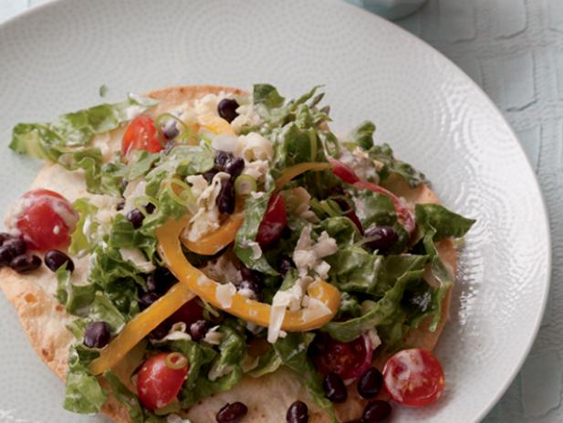 Eat-Your-Plate Taco Salad with Black Beans and Grilled Corn
