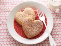 Heart-Shaped Whole-Wheat Pancakes with Strawberry Sauce