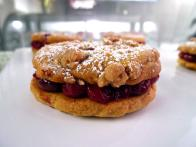 Cherry Almond Cobbler Sandwich Cookies