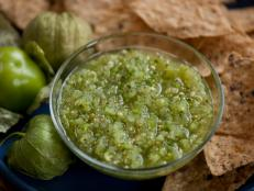Cooking Channel serves up this Salsa Verde: Green Tomatillo Salsa recipe  plus many other recipes at CookingChannelTV.com