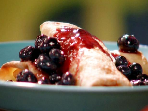 Blueberry-Lemon Cheese Blintzes
