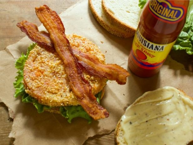 Fried Green Tomato BLT Recipe With Black Peppercorn Mayonnaise