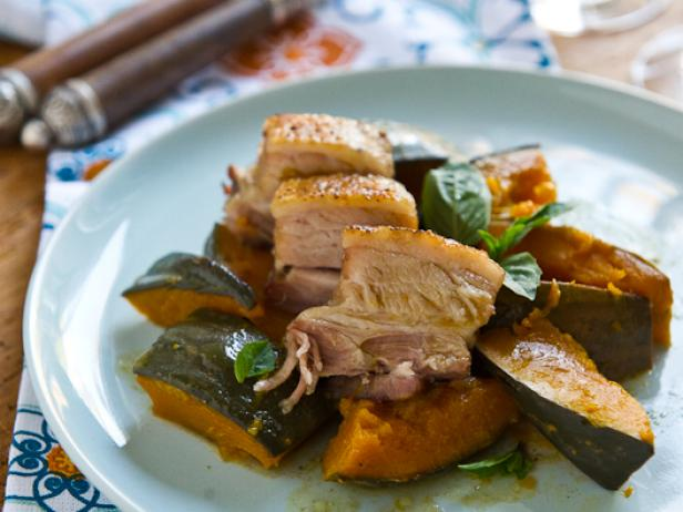 Braised Pork Belly With Kabocha Squash