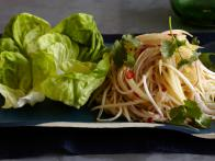 Green Papaya Salad in Lettuce Wraps