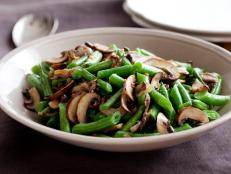 Cooking Channel serves up this Green Beans with Mushroom and Shallots recipe from Ellie Krieger plus many other recipes at CookingChannelTV.com