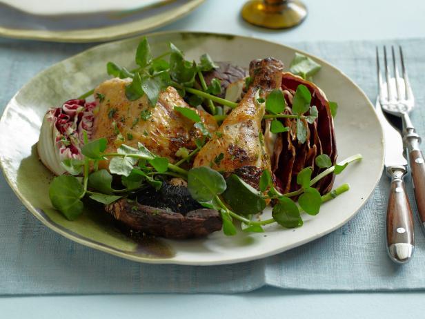 Garlicky grilled chicken portobello and radicchio salad recipes garlicky grilled chicken portobello and radicchio salad forumfinder Gallery