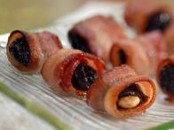 Almond-Stuffed Bacon-Wrapped Prunes