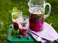 Thirsty Thursday: Blueberry Ginger Mojito Pitchers