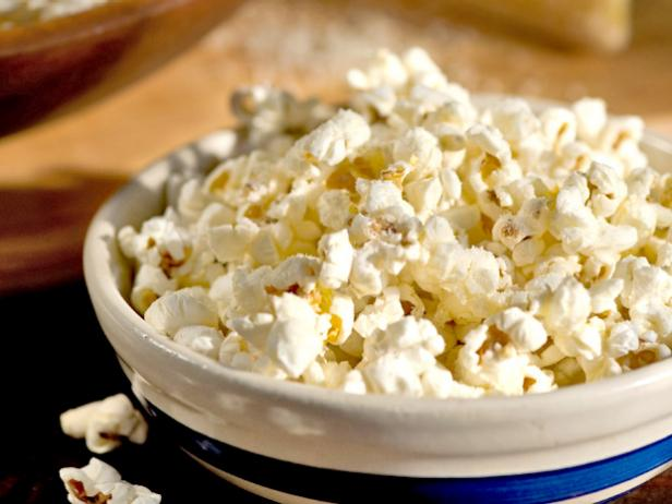 Popcorn with Parmesan and Pecorino