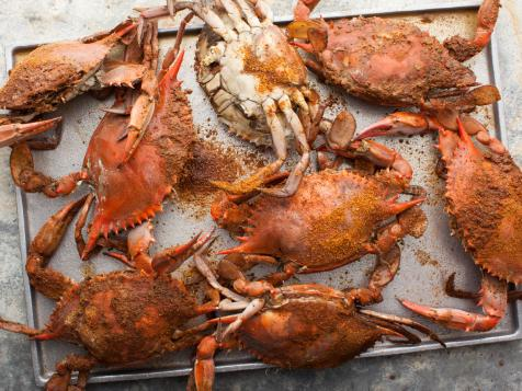 Old Bay Steamed Blue Crabs