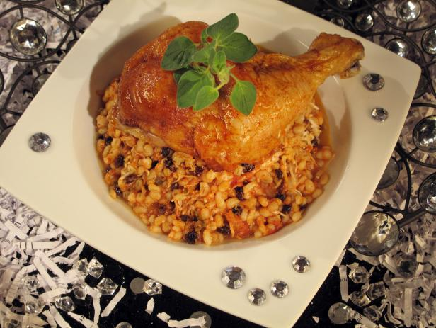 Roasted Chicken and Barley Risotto