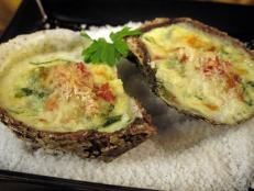Cooking Channel serves up this Oysters G-feller recipe from Nadia G. plus many other recipes at CookingChannelTV.com