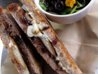 Black Bean Hummus and Gouda Grilled Cheese