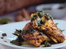 Cooking Channel serves up this Chicken with Kaffir Lime Pesto recipe  plus many other recipes at CookingChannelTV.com