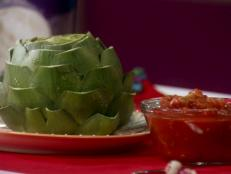 Cooking Channel serves up this HG Hot Couple: Sassy 'n Steamy Artichoke with Salsa recipe from Lisa Lillien plus many other recipes at CookingChannelTV.com