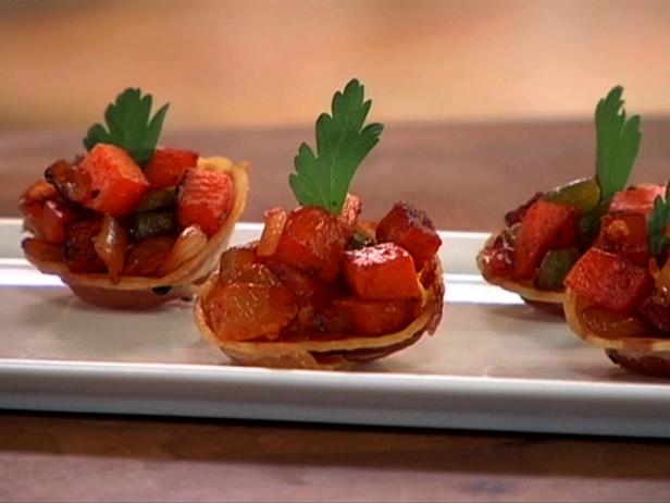 Bacon Cups with Sweet Potato Hash