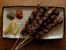 Cooking Channel serves up this Uyghur Spicy Beef Skewers recipe  plus many other recipes at CookingChannelTV.com