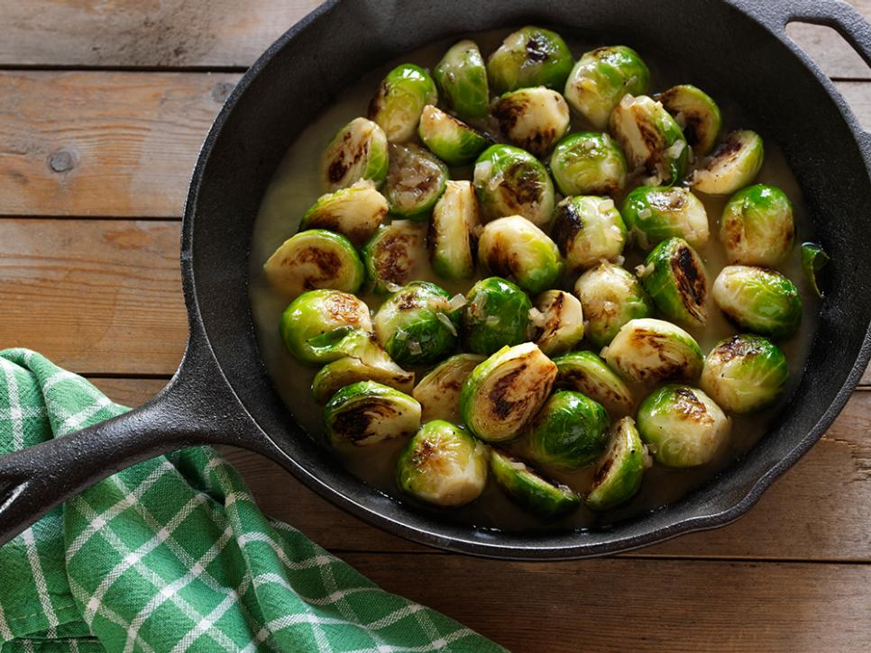 Best brussels sprouts recipes and ideas cooking channel pan roasted brussels sprouts forumfinder Choice Image
