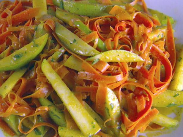 Shaved Carrot and Pear Salad with Curry Vinaigrette