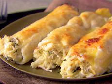 Cooking Channel serves up this Crab and Ricotta Cannelloni recipe from Giada De Laurentiis plus many other recipes at CookingChannelTV.com