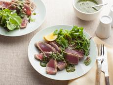 Cooking Channel serves up this Grilled Tuna With Basil Pesto recipe from Giada De Laurentiis plus many other recipes at CookingChannelTV.com