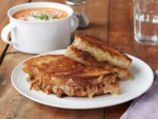 Cooking Channel serves up this Grilled Cheese with Caramelized Onions recipe from Chuck Hughes plus many other recipes at CookingChannelTV.com