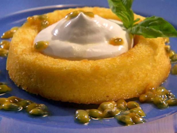 Shortcakes with Chantilly Cream and Passion Fruit Basil Syrup