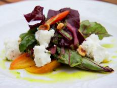 Cooking Channel serves up this Roasted Beet and Goat Cheese Salad with Summer Greens recipe from Lynn Crawford plus many other recipes at CookingChannelTV.com