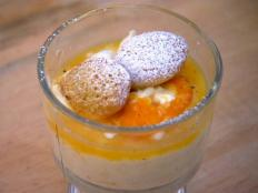 Cooking Channel serves up this Vanilla Rice Pudding with Glazed Oranges, Orange-Cardamom Madeleines and Orange Sabayon recipe  plus many other recipes at CookingChannelTV.com