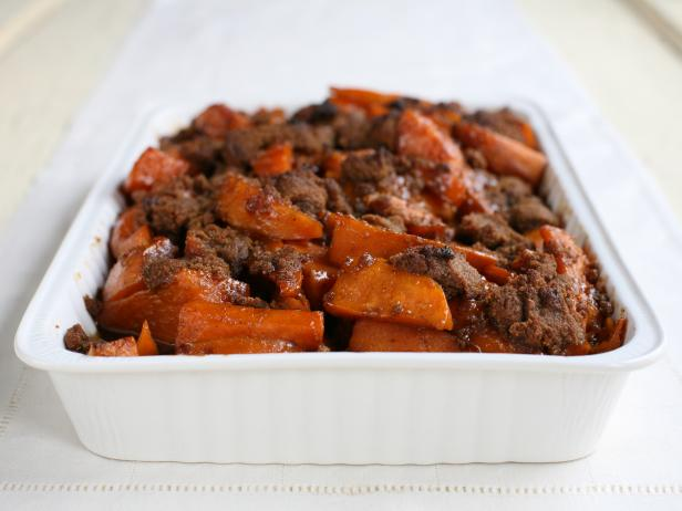 Southern Style Candied Yams with Gingersnap Crunch