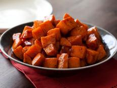 Cooking Channel serves up this Roasted Sweet Potatoes with Honey and Cinnamon recipe from Tyler Florence plus many other recipes at CookingChannelTV.com